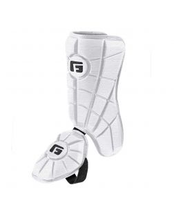 Batter's Leg Guard-White-Right hitter left leg