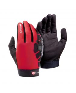 Bolle Cold Weather Bike Gloves-Black/Red-XS
