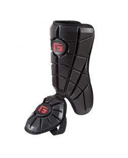 Batter's Leg Guard-Black-Right hitter left leg