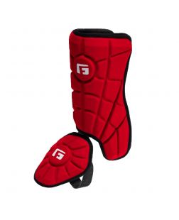 Batter's Leg Guard-Red-Right hitter left leg
