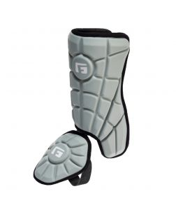 Youth Batter's Leg Guard-Gray-Right hitter left leg