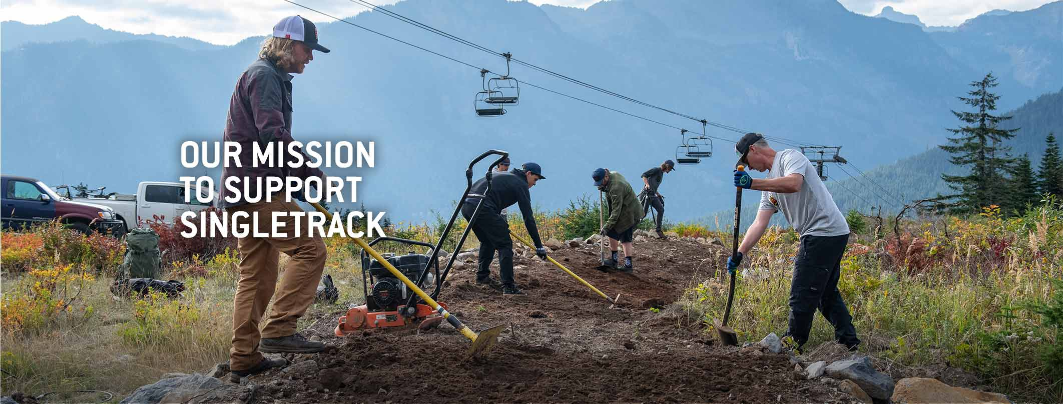 Our Mission to Support Singletrack