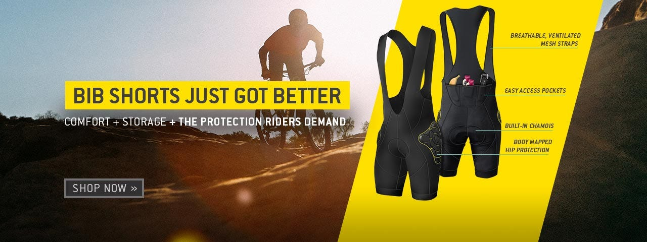 Bib shorts just got better. Comfort + storage + the protection riders demand. Shop now.
