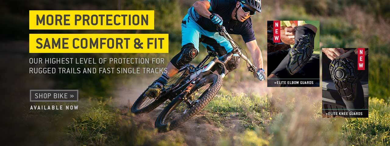 More protection. Same comfort and fit. Our highest level of elbow and knee protection for rugged trails and fast single tracks. Shop bike.
