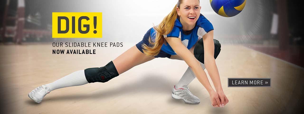 Dig! Our slidable knee pads now available. Learn more.