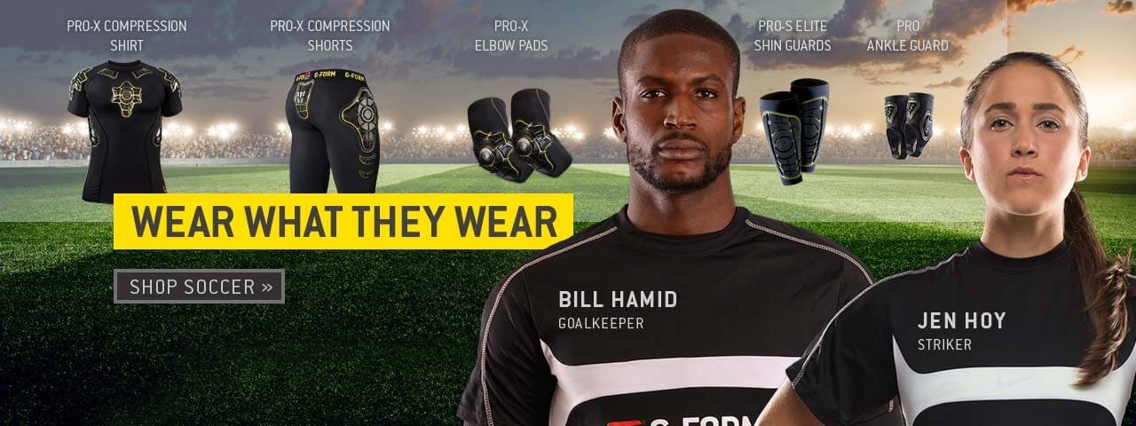Wear what Bill Hamid and Jen Hoy wear. Shop soccer.